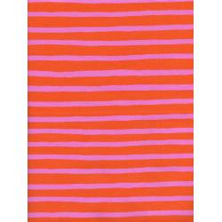 AB8022-001 Wonderland - Cheshire Stripe - Orange Fabric