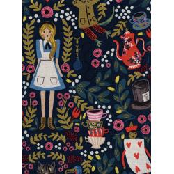 AB8025-012 Wonderland - Wonderland - Navy Canvas Metallic Fabric