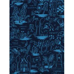 AB8027-022 Wonderland - Magic Forest - Navy Canvas Fabric
