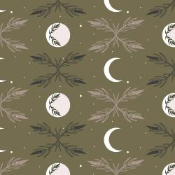 AC100-DO2 Camp Creek - Harvest Moon - Dark Olive Fabric