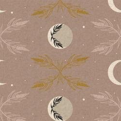 AC100-MA6UCM Camp Creek - Harvest Moon - Mauve Unbleached Canvas Metallic Fabric