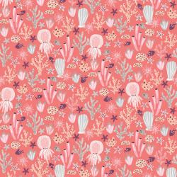 CC103-CO3 Kaikoura - Under the Sea - Coral Fabric