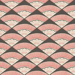CF103-CO3U Kibori - Ougi - Coral Unbleached Fabric