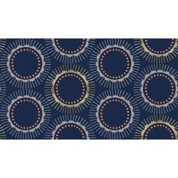 CF104-NA2M Kibori - Tara - Navy Metallic Fabric