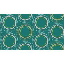 CF104-TE1M Kibori - Tara - Teal Metallic Fabric