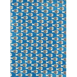 CB9008-001 Spectacle - Fish Friends - Blue Unbleached Cotton Fabric