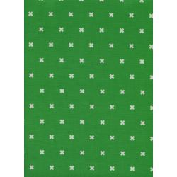C5001-021 Cotton + Steel Basics - Xoxo - Shamrock Unbleached Cotton Fabric