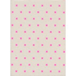 C5001-022 Cotton + Steel Basics - Xoxo - Flamingo Unbleached Cotton Neon Pigment Fabric