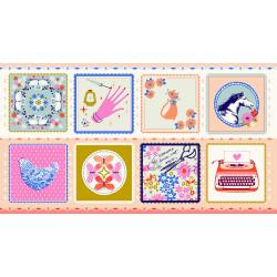 C6000-002 Beauty Shop - Hankie - Blue Fabric