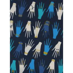C6003-002 Beauty Shop - Manicure - Navy Metallic Fabric
