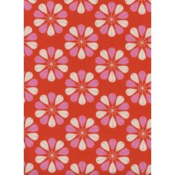 C6006-001 Beauty Shop - Shower Cap - Red Unbleached Cotton Fabric