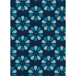 C6006-002 Beauty Shop - Shower Cap - Navy Unbleached Cotton Fabric