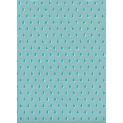 C6007-001 Beauty Shop - Drops - Aqua Unbleached Cotton Fabric
