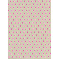 C6007-002 Beauty Shop - Drops - Pink Unbleached Cotton Neon Pigment Fabric