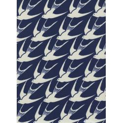 C5036-001 Bluebird - Flock - Navy Fabric
