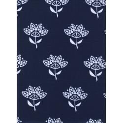 C5039-001 Bluebird - Cornflower - Navy Fabric