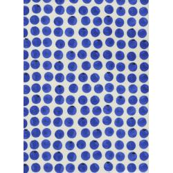 C5045-001 Bluebird - Blueberries - White Fabric