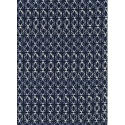 C5049-001 Bluebird - Cut Glass Chain - Navy Fabric