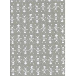 C5086-002 Boo - Skeleton Dance - Natural Fabric