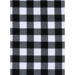"C5090-003 Checkers - 1"" Gingham - Black Fabric"