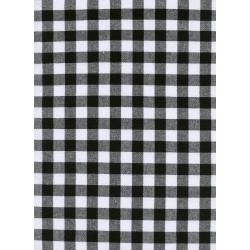 "C5091-001 Checkers - 1/2"" Gingham - Black Fabric"