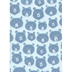 C5145-044 Cozy - Teddy And The Bears - Blue Brushed Twill Brushed Fabric