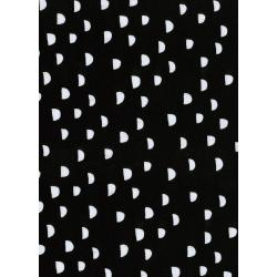 C5155-017 Dress Shop - Moons - Black Knit Fabric