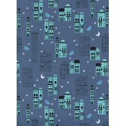 C5193-001 Eclipse - Haunted City - Gray Fabric