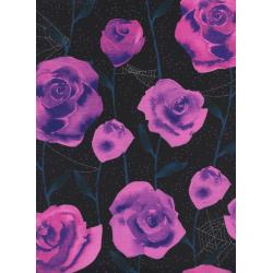 C5196-001 Eclipse - Roses - Black Metallic Fabric
