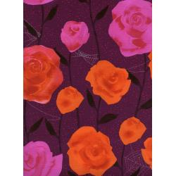 C5196-002 Eclipse - Roses - Wine Metallic Fabric