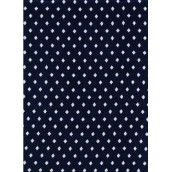C5022-045 Frock - Gemstone - Navy/White Rayon Fabric
