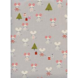 C5187-002 Frost - Little Friends - Natural Unbleached Cotton Fabric