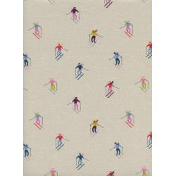C5189-002 Frost - Ski Peeps - Neutral Unbleached Cotton White Pigment Fabric