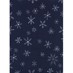 C5190-001 Frost - Flurry - Navy Fabric
