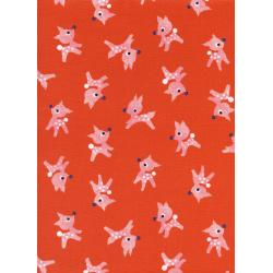 C5071-001 Garland - Little Deer - Red Fabric