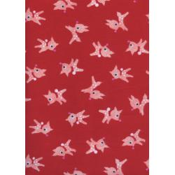 C5071-034 Garland - Little Deer - Berry Brushed Twill Fabric