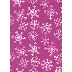 C5072-002 Garland - Snowflakes - Grape Fabric
