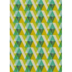 C5074-002 Garland - Facet - Green Unbleached Cotton Fabric