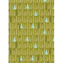 C5076-002 Garland - Tree Day - Green Fabric