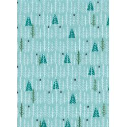 C5076-003 Garland - Tree Day - Mint Fabric
