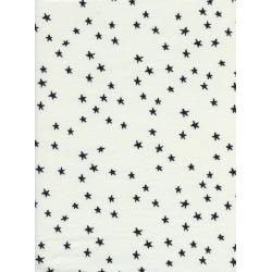 C5153-017 Hello - Starry - Black Knit Fabric