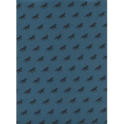 C5165-011 #Lawnquilt - Unicorn Race - Denim Lawn Fabric