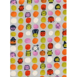 C5126-001 Lil' Monsters - Dress Up - Grey Unbleached Cotton Fabric