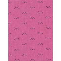 C5130-001 Lil' Monsters - Neko - Purple Unbleached Cotton Fabric