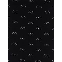 C5130-002 Lil' Monsters - Neko - Black Unbleached Cotton Fabric