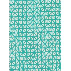 C5132-003 Lil' Monsters - Shattered - Aqua Unbleached Cotton Fabric
