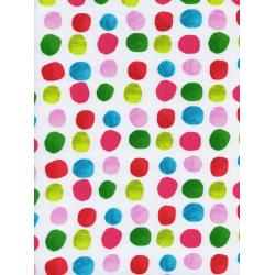C5137-002 Noel - Painted Dots - Pink Fabric