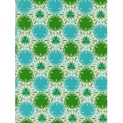 C5140-001 Noel - Kaleidescope - Green Unbleached Cotton Fabric