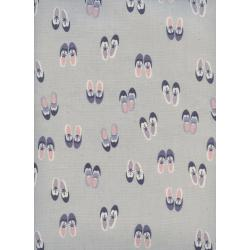 C5168-001 Panorama - Oxfords - Rainy Day Unbleached Cotton Fabric