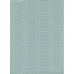 C5173-003 Panorama - Dandy Bars - Aqua Unbleached Cotton Fabric